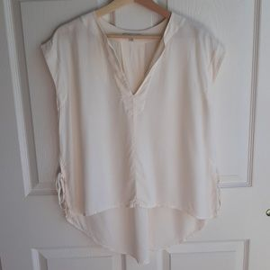 Madewell Ivory Skylight Side Tie Blouse Size XS